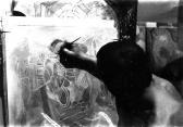 GOS az Alkotás utcai műtermében, 1960-as évek eleje