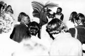 Kiállítása, FMK, 1976 (hátul balról GOS és Kelemen Tibor)