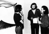 Kiállítása, FMK, 1976 (jobbról Ábrahám Raffael és Galántai György)
