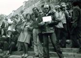 VLS Szanbadtéri Tárlat, 1976 (középen GOS, balra Agócs Attlia)