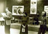 Kiállítása, Kassák Klub, 1978 (balról Győrffy László, igazgatónő, GOS)