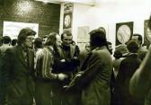 Kiállítása, Kassák Klub, 1978 (balról Nagy Gáspár, GOS, Huszárik Zoltán, Ágh István)