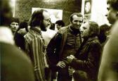 Kiállítása, Kassák Klub, 1978 (balról GOS, Huszárik Zoltán, Ágh István)