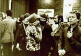 Kiállítása, Kassák Klub, 1978 (középen balról Szántó Piroska, Orvos András, Schrancz Lajos)