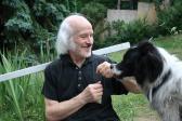 Athosz kutyájával, Szentendre, 2011