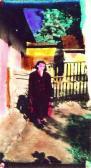 Anya anilin, GOS színezett fotója, Ozora, 1956-58 kl