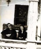 A tornácon nagymamával, Ozora, 1960-as évek eleje