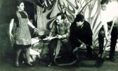 Az ozorai színjátszók díszlete, készítette GOS, 1970-es évek eleje (A)